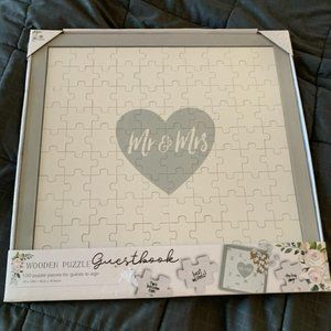 Mr & Mrs Guest book Jigsaw Puzzle